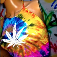 SWEET LORD O'MIGHTY! TIEDYE MARIJUANA HALTER