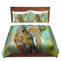 Duvet Cover Brushed Twill Twin, Queen, King SETs from DiaNoche Designs by Karen Tarlton Unique Home Decor and Designer Bedding Ideas Elephant