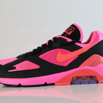 BC HCXX Nike Air Max 180 CDG Comme Des Garcons Black Laser Pink Solar Red AO4641-601 (NO Codes)