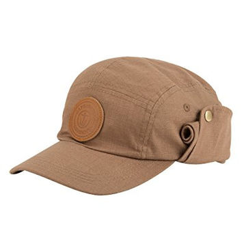 CAPTAIN FIN Fresh Catch Mens Camper Hat, Tan