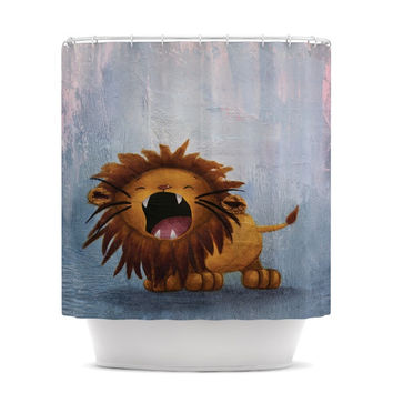 "Rachel Kokko ""Dandy Lion"" Shower Curtain"