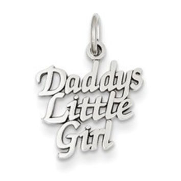 DADDY'S LITTLE GIRL Charm in 14k White Gold