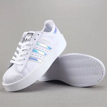Adidas Superstar Bold W Women Men Fashion Casual Old Skool Low-Top Shoes-7