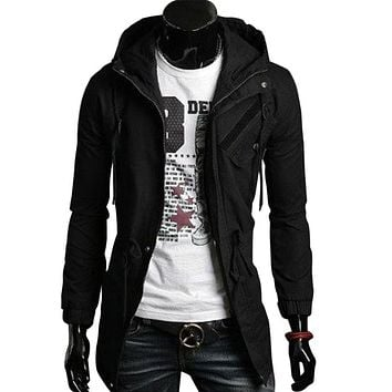 High Quality Cotton Trench Coat Men Fashion Slim Men's Jackets Outerwear Casual Windbreaker Mens Trench Coat Overcoat Casacos