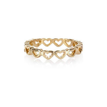Gold tone heart thumb ring - rings - jewelry - women