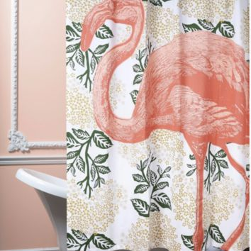 Thomas Paul | Flamingo Bloomsbury Shower Curtain