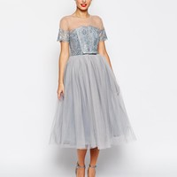 ASOS SALON Premium Netted Tu Tu Dress