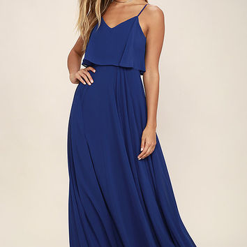 Love Runs High Royal Blue Maxi Dress