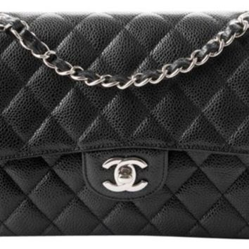 Chanel Caviar Quilted Small Double Flap Shoulder Bag 40% off retail