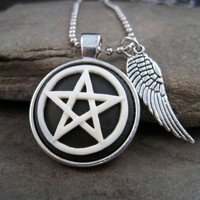 SuperNatural Pentagram Cameo Protection Necklace