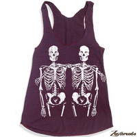 Womens SKELETONS american apparel Tri-Blend Racerback Tank Top S M L (9 Color Options)