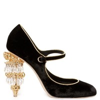Chandelier-heel velvet pumps | Dolce & Gabbana | MATCHESFASHION.COM US