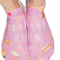 Living Royal Junk Food Heaven Ankle Socks Multi One