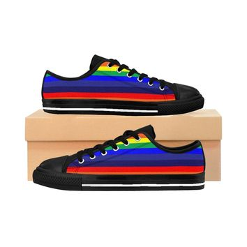 Men's Sneakers PRIDE Rainbow Print LGBT shoes