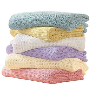 16 Colors Newborn Baby Blankets Super Soft Cotton Crochet Summer 100*80  Prop Crib Casual Sleeping Bed Supplies Hole Wrap