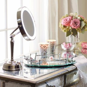 Cordless LED Height Adjustable Rechargeable Vanity Mirror | Frontgate