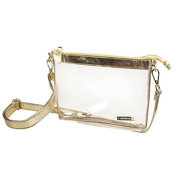 Clear Small Crossbody | Gold
