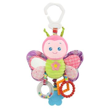 HAPPY MONKEY 2017 New Infant Toys The Bed Stroller Playing Toy with teether Newborn Baby Educational Toys Crib Lathe Hanging
