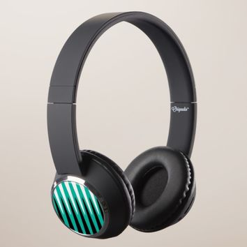 Wave Design Teal Headphones