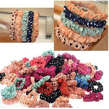 Women Fashion 10pcs/set Lots Cute Sweet Girl Elastic Hair Band Ponytail Holder Accessories Headwear A191