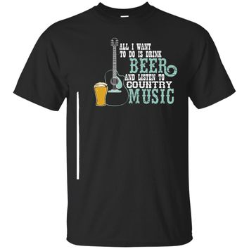 Beer T-shirt for Country Music Lover Shirt for Beer Lover