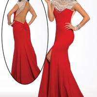 Red Long Jersey Dress 21894 - Prom Dresses