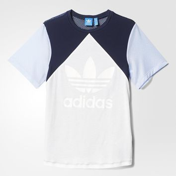 adidas Helsinki Authentic Trefoil Tee - Blue | adidas US