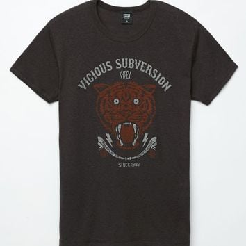 Obey Vicious Subvision T-Shirt - Mens Tee - Gray