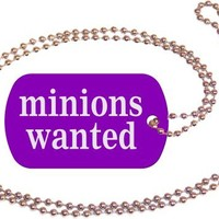 Minions Wanted Purple Dog Tag with Neck Chain