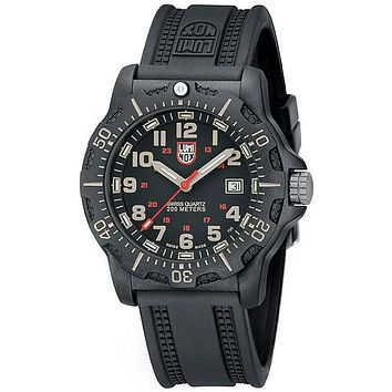 Luminox Mens Black Ops Carbon - Black Dial w/ Khaki Accents - Strap - PC Carbon