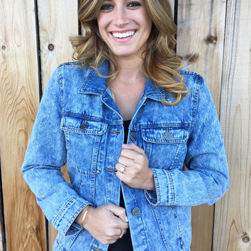 Classic Denim Wash Jacket!