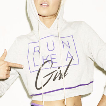 Mink Pink Run Like A Girl Hooded Sweater
