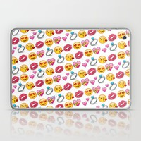 Valentine's Day Emoji Love Laptop & iPad Skin by Love Lunch Liftoff