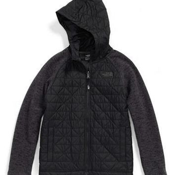 The North Face Boy's Quilted Sweater Fleece Jacket,