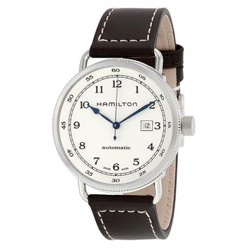 Hamilton Khaki Navy Pioneer Silver Dial Automatic Mens Watch H77715553