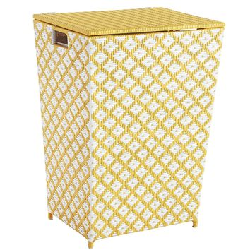 San Martin Yellow Wicker Laundry Hamper