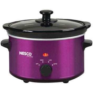 Nesco(r) 1.5-quart Oval Slow Cooker (metallic Purple)