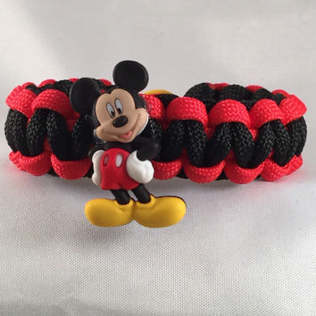 Mickey Mouse - Children Paracord Heaven Survival Bracelet with Button Closure