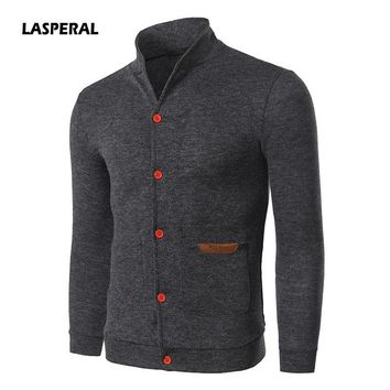 LASPERAL Men's Sweater Cardigans Fashion Long Sleeve Casual Knitted Christmas Sweater Autumn Christmas Warm Sweater Coat Outwear