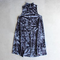 crushed velvet swingy tank dress - more colors