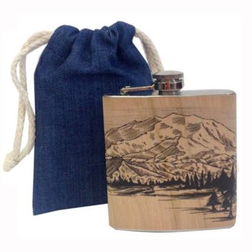 Mountain Wood Flask