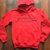 BURBERRY Women Embroidery LOGO Hot Hoodie Cute Sweater