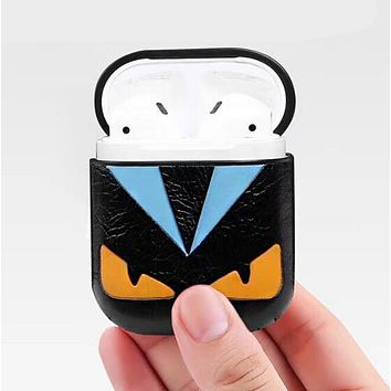 FENDI Trending Stylish iPhone AirPods Bluetooth Wireless Earphone Protector Protective Case(No Headphones)
