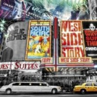 Posters: New York Poster - Theatre Signs, Broadway (36 x 24 inches)