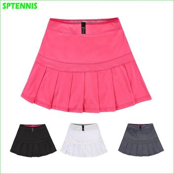 Sports Tennis Skirts Woman Pleated A-line Skirt For Badminton Volleyball Dance Cheering Anti-exposure