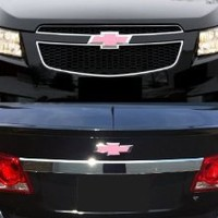 Chevy Cruze 2011-2013 2012 : Pink Grille & Trunk Bowtie Emblem Vinyl Cover Decal Wrap Sticker