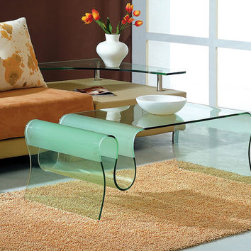 A 062 GLASS COFFEE TABLE BY J&M FURNITURE