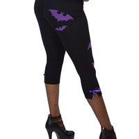 "WOMEN'S ""BAT-TASTIC"" LEGGINGS BY KREEPSVILLE 666 (BLACK)"