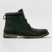Black Leather Toecap Boots - View All Shoes - Shoes and Accessories