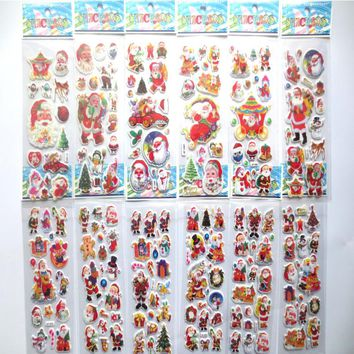 10pcs/lot Santa Claus stickers for kids Kawaii Christmas snowman diary scrapbooking DIY stickers stationery office school supply